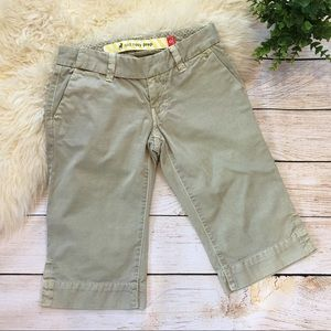 Old Navy | cotton twill khaki bermuda shorts 0